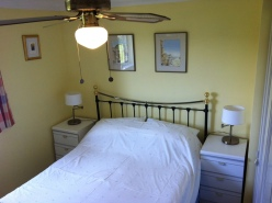 2nd double bedroom with views over the paddocks.